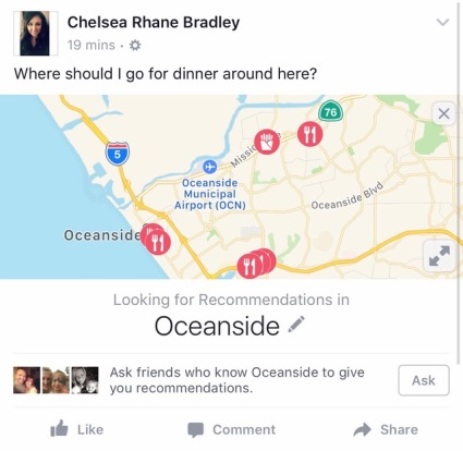 Facebook Tags Your Local Page In Recommendations